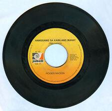 Philippines ROGER NACION Hanggang Sa Kabilang Buhay OPM 45 rpm Record