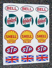 CLASSIC BIKE HELMET & TANK STICKERS VINTAGE RETRO CAFE RACER DUCATI MATCHLESS