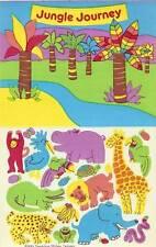 Sandylion Vintage JUNGLE ANIMALS Stickers 1 Maxi Sheet Retired 1983