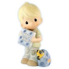 Precious Moments Hold On Your Faith Boy Holding Bible Figurine 113947 Communion