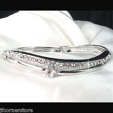 BRIDAL DIAMANTE  BANGLE IN GIFT BOX**BEAUTIFUL GIFT BR53