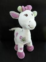 */ PELUCHE DOUDOU Girafe Arthur et Lola BEBISOL BLANC ROSE MAUVE GRIS - NEUF*