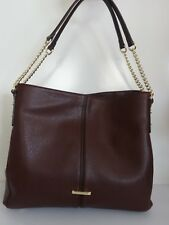 Anne Klein Kick Start Garnet Hobo Handbag Large Leather Purse New