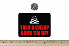 3 x 4 Biker Refrigerator Magnet Talks Cheap Rack Em' Up BM810