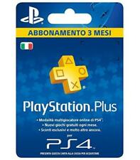 PLAYSTATION PLUS CARD HANG ABBONAMENTO PSN DA 3 MESI - 90 GIORNI SONY PS4 CODICE
