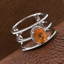 Jalisco Fire Opal Platinum Over Sterling Silver Ring (Size 8.0) TGW 1.150 cts