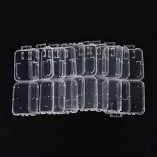 Transparent Standard SD SDHC Memory Card Case Holder Box Storage Plastic 10PCS Y