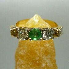 56 (17,8 mm Ø ) Good Gold Ring in 585/14k emerald diamonds
