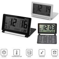 Ultra Slim Digital LCD Thermometer Calendar Temperature Date Alarm Clock Desk