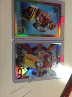 Derrius Guice 2 CARD LOT Red And Yellow Rated Rookie+prizm Instant Impact !!