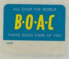 83115) Luftpost Vignette Air Mail label, BOAC Takes Good Care of you...