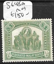 MALAYA FMS (P3110B) ELEPHANT $1.00  SG48A  MOG