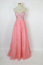 NEW City Triangles $170 Red Coral Strapless Evening Cocktail Formal Long Dress 7