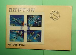 DR WHO 1967 BHUTAN FDC SPACE IMPERF HOLOGRAM BLOCK  Lf94637