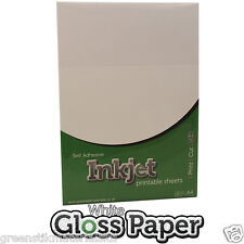 10 x A4 Self Adhesive Inkjet Printable Gloss White Paper - Print & Cut