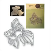 Elegant Koi metal die - Poppystamps cutting dies 2034 fish animals sealife