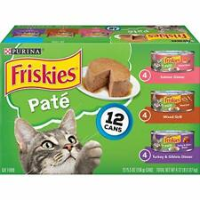 Purina Friskies Pate Wet Cat Food Variety Pack Salmon Turkey & Grilled - 2 Pa...