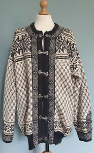 Dale Of Norway Chunky Knit Pure New Wool Nordic Cardigan /Sweater Size XL