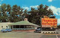 Postcard Franklin's Restaurant Statesboro Georgia