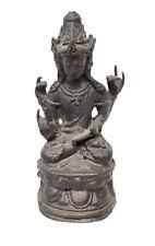 Antique Chinese Style Tara Bodhisattva Bronze Cast Figure Guan Yin Kwan Yin
