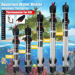 200/300W Submersible Aquarium Heater Tropical Fish Tank Thermostat Heating