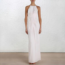 Formal 100% Silk Solid Maxi Dresses for Women