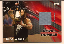 BRAY WYATT 2017 TOPPS WWE THEN NOW FOREVER ROYAL RUMBLE MAT RELIC /99