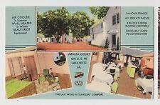 Lafayette,LA.Azalea Court,3 Views,Interior Ext.& Cafe.Roadside,Linen,c.1940s