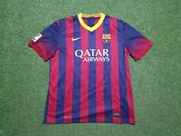 FC Barcelona Camiseta L 2013 2014 Nike Camiseta Jersey 13/14 Qatar Airways