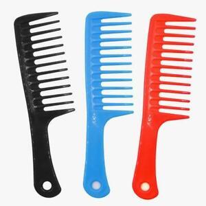 "Ana Beauty 10"" Handle Heat/ Chemical Resistant Plastic Shampoo/ Detangling Comb"
