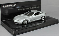 Minichamps Mercedes-Benz SLR McLaren in Matt Silver 2004 436033021  Ltd 2010