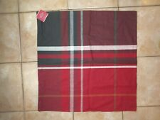 """Pottery Barn Mckinley Plaid Buffalo Check Red Black Pillow Cover 24"""" #2196"""