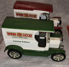 2 Ertl Bank Lot Winn Dixie America's Supermarket 1912 Ford Open Van 1917 Model T