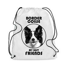 Borsa Sacca cane BORDER COLLIE MY BEST FRIEND