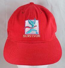 Survivor Cancer Baseball Hat, Red  WB Warner Bros Studios