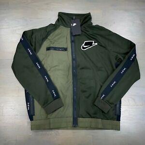 Nike Sport Pack Track Full Zip Jacket Sequioa Cargo Khaki Green Men's New