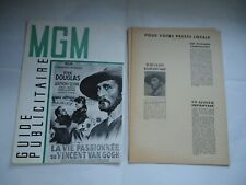 KIRK DOUGLAS/LUST FOR LIFE/UC2/  french pressbook