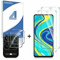 2+2 Janmitta 2 Pack Screen Protector and 2 Camera Lens for Xiaomi Redmi Note 9s