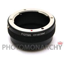 Anello adattatore obiettivo CY CONTAX YASHICA su fotocamera CANON EOSM M1 M2 M3