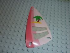 Minifig Wing 6x12 with Palm Tree on Pink Background Pattern Réf x66px9/6401/6410