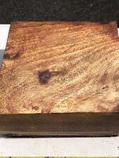 Curly Hawaiian Koa Wax Sealed Resdy To Turn Reclaimed 8�x8�x3.5�