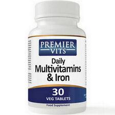 Multivitaminas & Hierro (diario) X 30 comprimidos vegetarianas, premiervits, despacho 24 horas