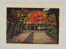 Red leaves, autumn, :Japanese print original contemporary Ido Masao