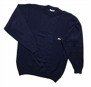 Men`s Vintage Lacoste Sweater Blue Size XXL made in France