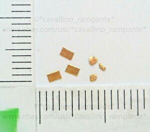 3 lingotti oro puro 999.9 24kt+3 pepite oro 0.5~1.5mm dall'Australia