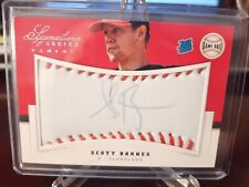 2012 Signature Series Rated Rookie Game Ball #184/299 Scott Barnes Auto