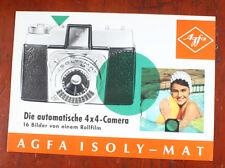 AGFA ISOLY-MAT SALES BROCHURE D.15-652/2067/167, IN GERMAN/cks/196863
