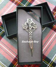Kilt pin étain ornée knotwork celtique croix faite en ecosse kilts highlandwear