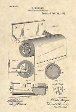 Original Toilet Paper Fixture 1892 Patent Art Print - Vintage Bathroom Art - 308