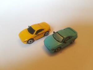 2 X Micro Machines 90's Toyota MR2 Blue Yellow Machine LGTI 1994 Rare
